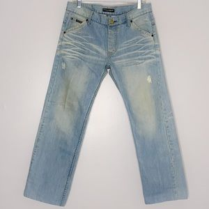 Dolce & Gabbana Lightwash Distressed Denim Jeans